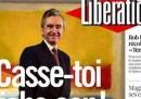 La prima pagina di Libération contro Bernard Arnault