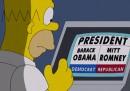 Homer Simpson vota Romney