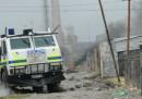 Le operazioni della polizia in Sudafrica