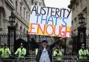 Le proteste contro il governo a Londra