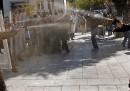 Gli scontri di ieri a Pristina