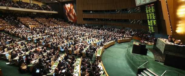 UN Votes On Non-Member Observer Status For Palestine