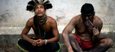 Le proteste degli indios in Brasile
