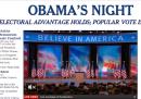 Le home page sulla vittoria di Obama
