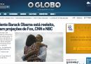 Home page vittoria Obama - O Globo