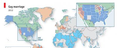 La mappa dei matrimoni gay nel mondo