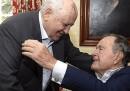 George H. W. Bush e Michail Gorbaciov insieme a Houston
