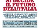 La pagina a pagamento sui giornali per il ballottaggio delle primarie
