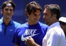 I palleggi di Federer e Batistuta