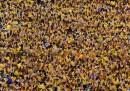Gli affollati festeggiamenti per il re in Thailandia