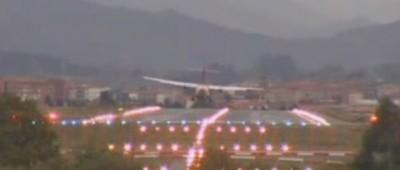 Il vento all'aeroporto di Bilbao