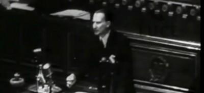 Il video di Alcide De Gasperi alla conferenza di Parigi