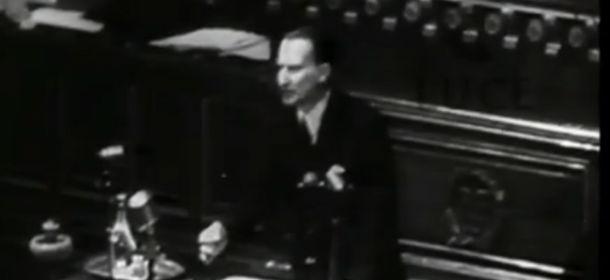 Il video di Alcide de Gaspri alla Conferenza di Parigi