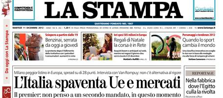 Le prime pagine di oggi il post for Mercati oggi a milano
