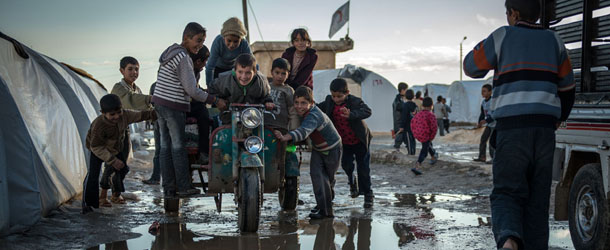 Syrische Fluechtlinge