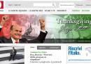 Il sito del PD celebra la vittoria di Bersani