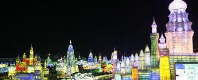 La città di ghiaccio, in Cina