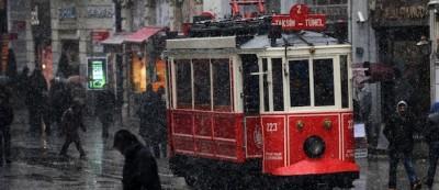 La neve a Istanbul