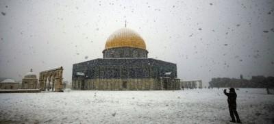 Le foto della neve a Gerusalemme