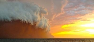 La tempesta di sabbia in Australia
