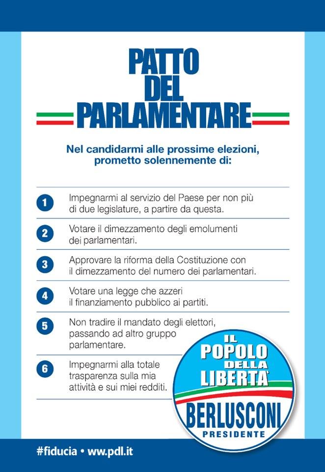 Il patto del parlamentare del pdl il post for Parlamentare pdl