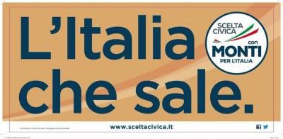 Il primo manifesto elettorale di Monti