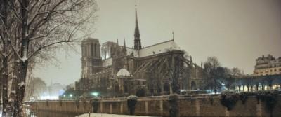Le foto della neve a Parigi