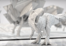 Dinosauro di carta stampata