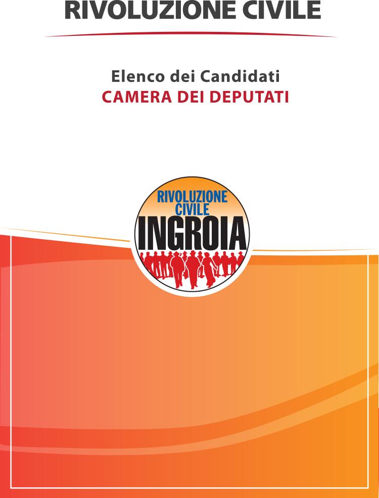 I candidati di rivoluzione civile alla camera e al senato for Camera e senato differenze