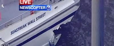 L'incidente del traghetto al molo di New York