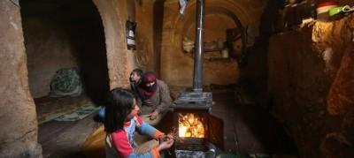 I siriani che vivono sottoterra