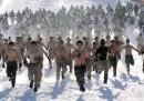 Esercitazione militare sulla neve in Corea del Sud