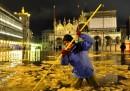 Acqua alta e neve a Venezia