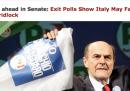 Le elezioni italiane sui siti internazionali