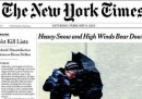 Le prime pagine americane sulla tempesta di neve