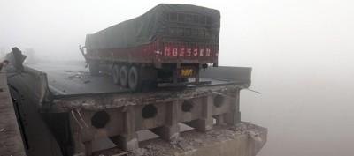 Il camion esploso in Cina