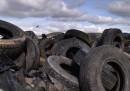 Una fabbrica di riciclaggio dei pneumatici in Bulgaria
