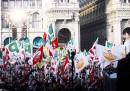 La manifestazione del centrosinistra a Milano