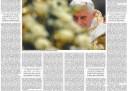 La pagina del Foglio nel marzo 2012 sulle dimissioni del Papa