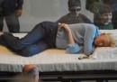 Tilda Swinton dorme al MoMA