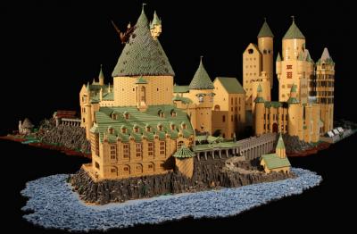 Hogwarts, fatta con 400.000 pezzi di Lego