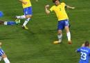 Il gol di Balotelli contro il Brasile