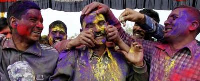 La festa di Holi in India