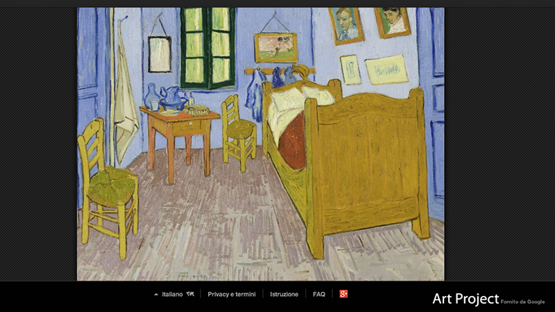 I quadri pi visti su google art project il post - Van gogh la camera da letto ...