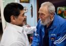 Fidel Castro e Maradona insieme a Cuba