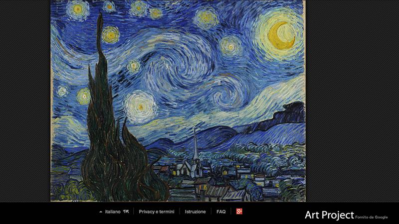 I quadri pi visti su google art project il post for La notte stellata vincent van gogh