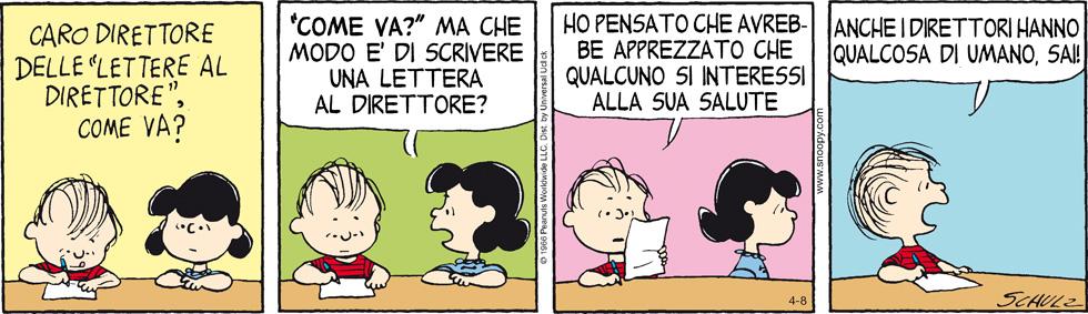 Peanuts 2013 Aprile 8 Il Post