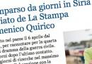 La scomparsa di Domenico Quirico