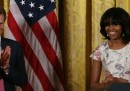Le foto del principe Harry con Michelle Obama