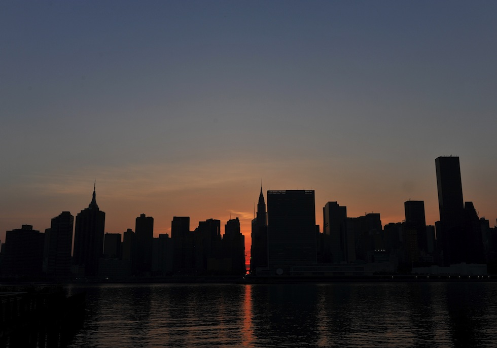 "Le foto del ""Manhattanhenge"" - Il Post"